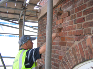 Brickwork repairs and pointing