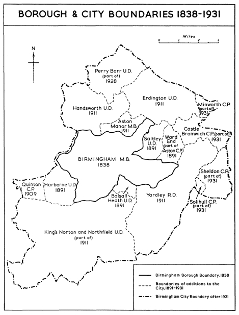 Birmingham Council Boundary Changes 1838 to 1931
