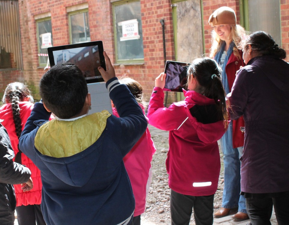 Children became history detectives during school visits before conservation works began.