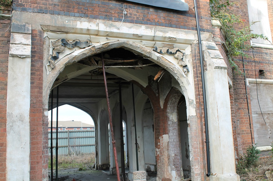 Archway of Tears. Photo taken 2013 on visit to discuss progress of its preservation