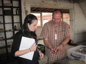 Volunteers Michael Reddy and Barbara Nomikos