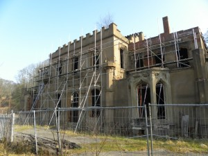 Great Barr Hall in its recent state of disrepair