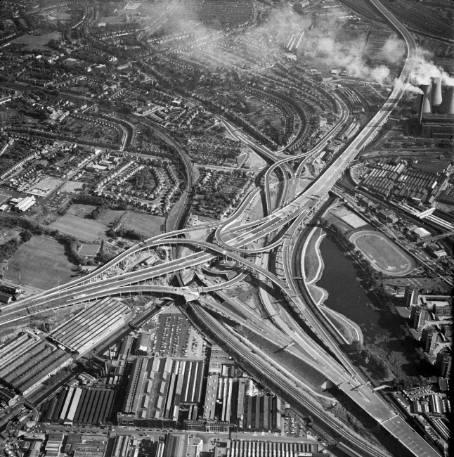 Gravelly Hill Interchange 1971: courtesy of English Heritage