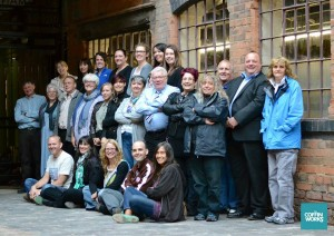Supporters and volunteers at a recent 'pub' quiz and film night at The Coffin Works.
