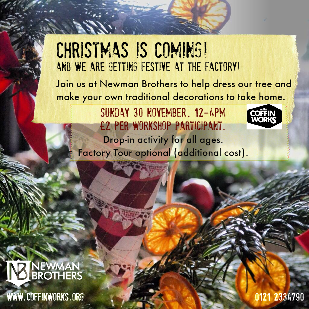 Join us to make traditional tree decorations 30.11.14