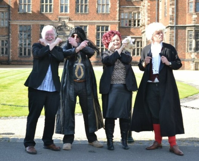 Chris at Aston Hall in 2011 with 'Ozzy and Sharon Osbourne' and 'Dr Johnson.' ©Anne-Marie Hayes