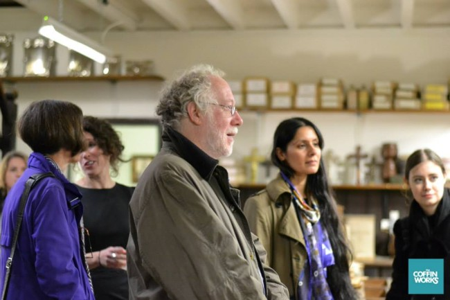 Chris at the launch of the Coffin Works last October. He had been involved in the project for many years and helped me with much of my research. ©Anne-Marie Hayes